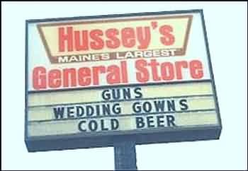 guns, wedding gowns, cold beer
