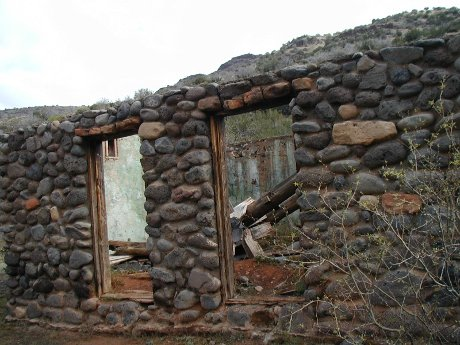abandoned structure in the Coconino National Forest