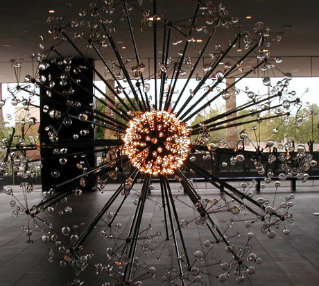 sculpture depicting the Big Bang, in the Phoenix art museum