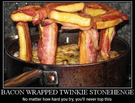 Bacon wrapped Twinkie Stonehenge: No matter how hard you try, you'll never top this
