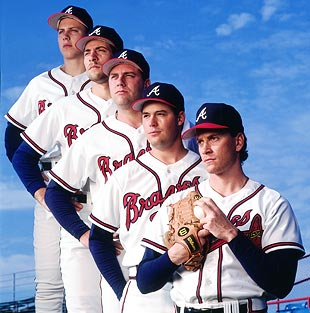 a bunch of Braves pitchers