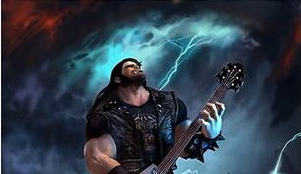 Eddie from Brutal Legend rocking out