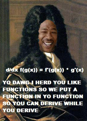yo dawg, we put a function in your function so you can derive while you derive