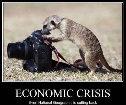 economic crisis: even National Geographic is cutting back