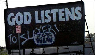 God listens (to Slayer!)