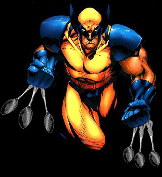 Wolverine, with retractable spoons instead of retractable claws