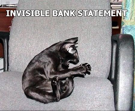 invisible bank statement