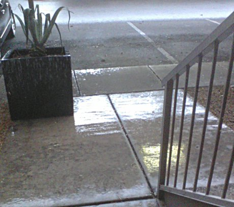 a small amount of rain in Tempe