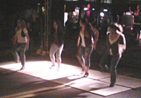 tap dancers dancing to 'Everlong' by the Foo Fighters