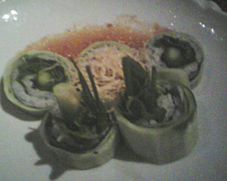 vegetable roll at Sushi Roku, half price but still good