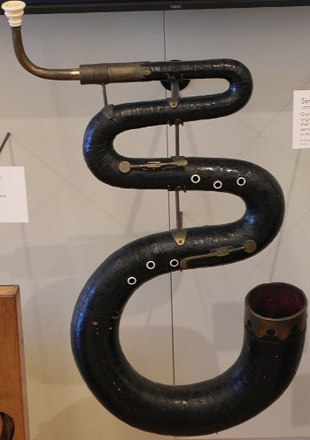 picture of a serpent, the wind instrument that was the precursor to the tuba