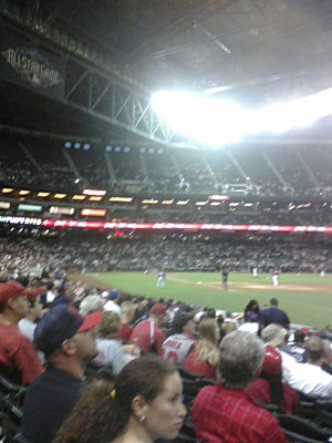 view from section 111 of Chase Field
