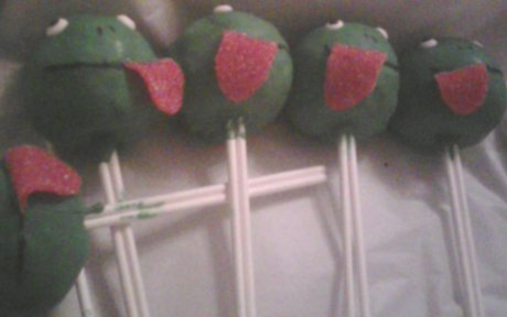 cake pops that look like frogs