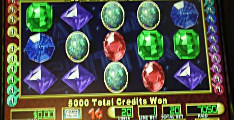 won the jackpot on a penny slot machine