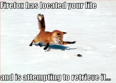 firefox has located your file and is attempting to retrieve it