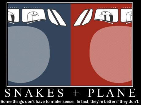 snakes on a plane motivational poster